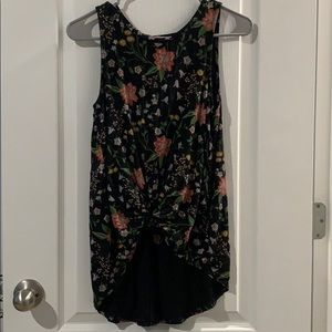 Soft floral tank top
